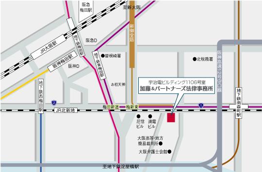 加藤&パートナーズ法律事務所への地図